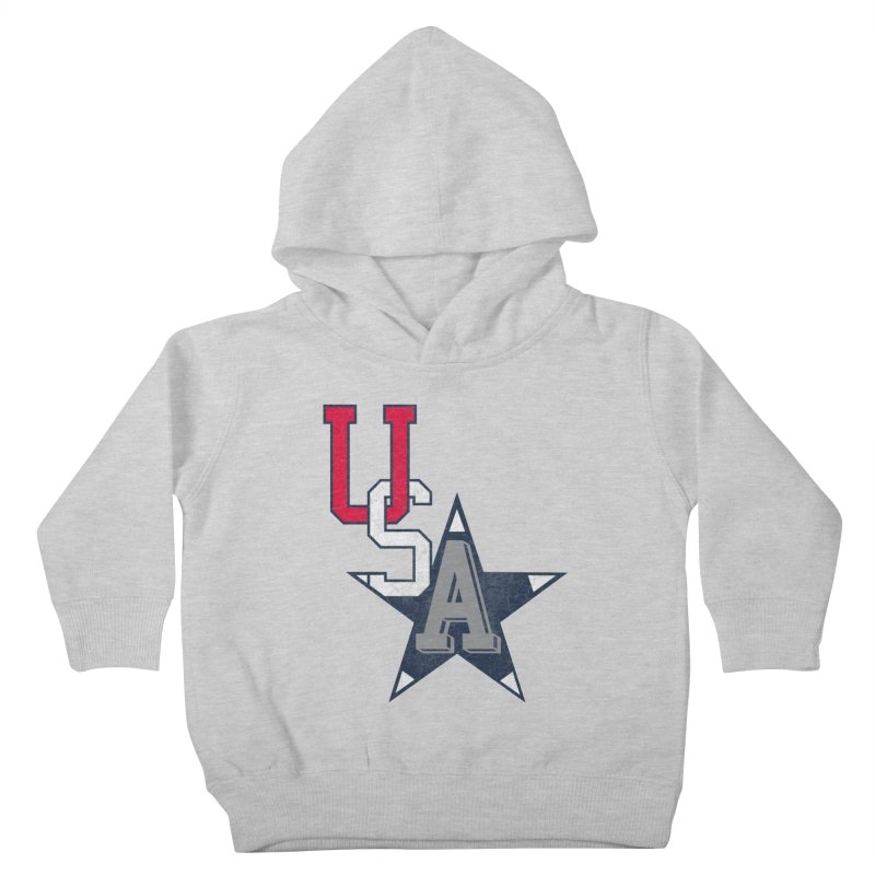 USA Star Kids Toddler Pullover Hoody by Lance Lionetti's Artist Shop