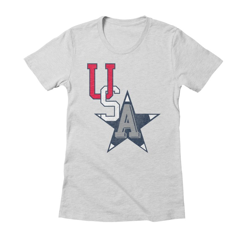USA Star Women's Fitted T-Shirt by Lance Lionetti's Artist Shop