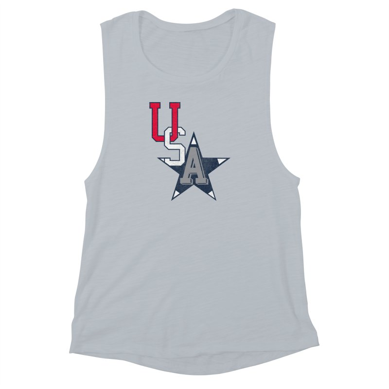 USA Star Women's Muscle Tank by Lance Lionetti's Artist Shop