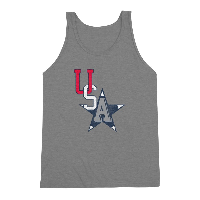 USA Star Men's Triblend Tank by Lance Lionetti's Artist Shop
