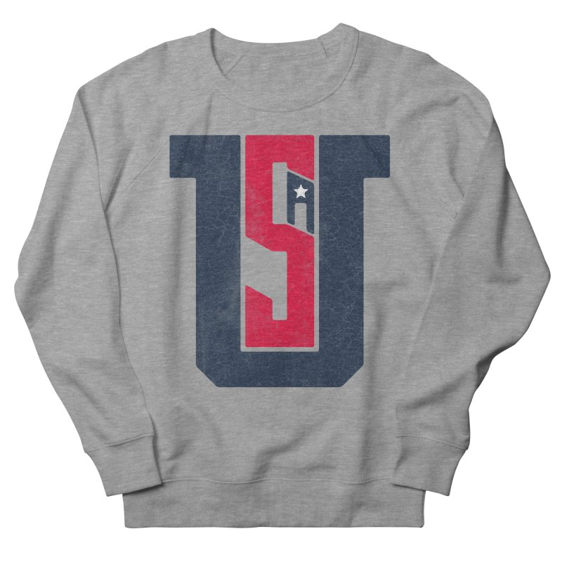 USA Men's French Terry Sweatshirt by Lance Lionetti's Artist Shop