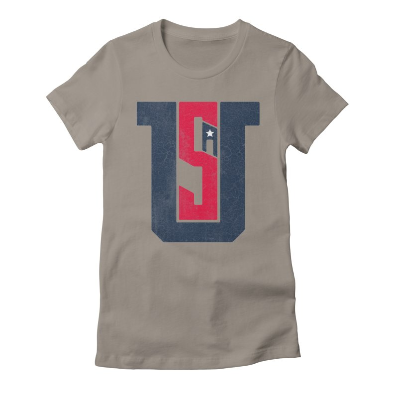 USA Women's Fitted T-Shirt by Lance Lionetti's Artist Shop