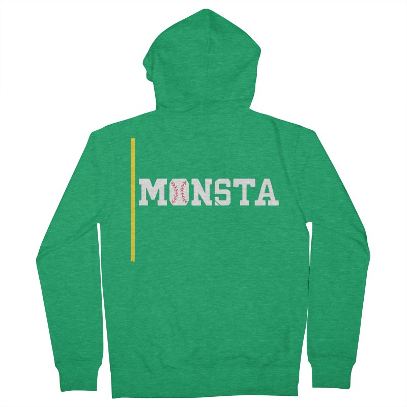 Monsta Men's French Terry Zip-Up Hoody by Lance Lionetti's Artist Shop