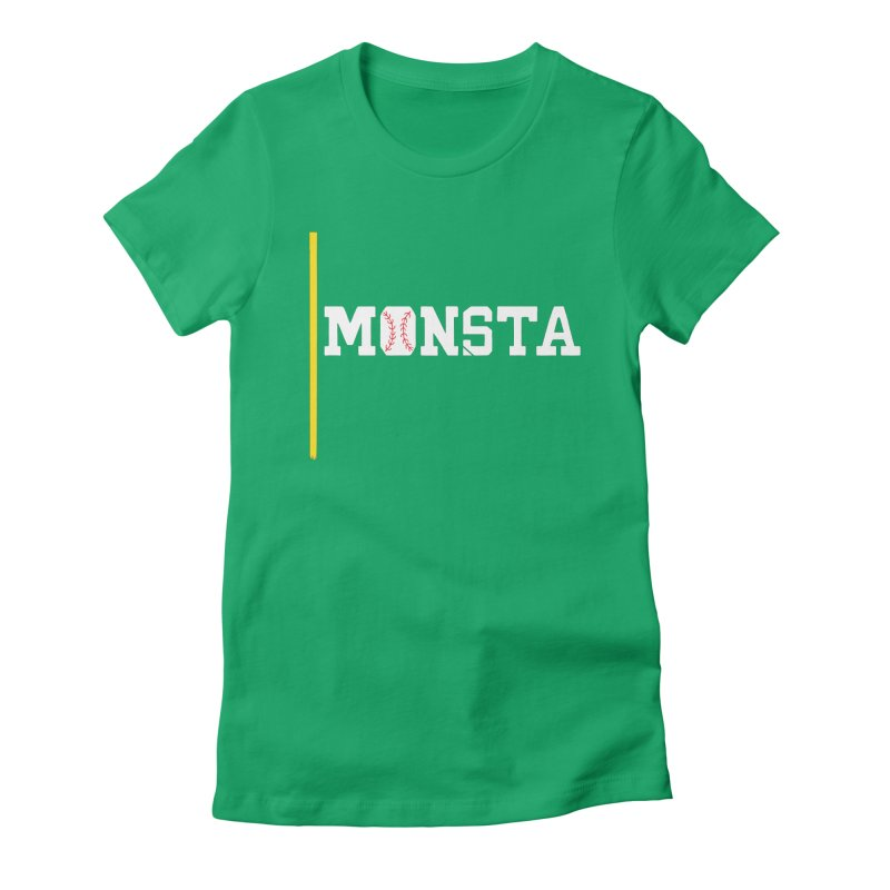 Monsta Women's Fitted T-Shirt by Lance Lionetti's Artist Shop