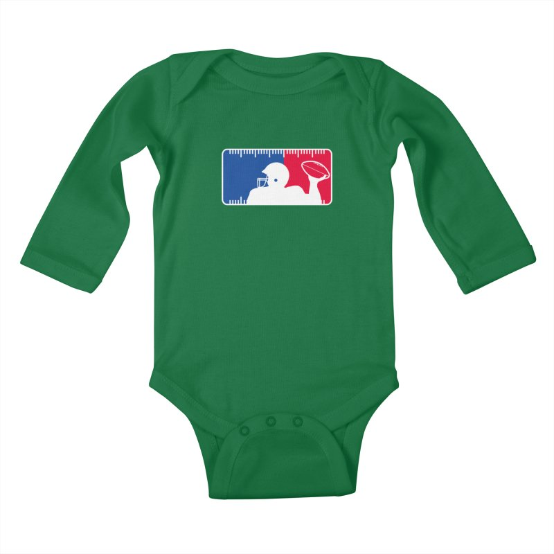 Major League Football Kids Baby Longsleeve Bodysuit by Lance Lionetti's Artist Shop
