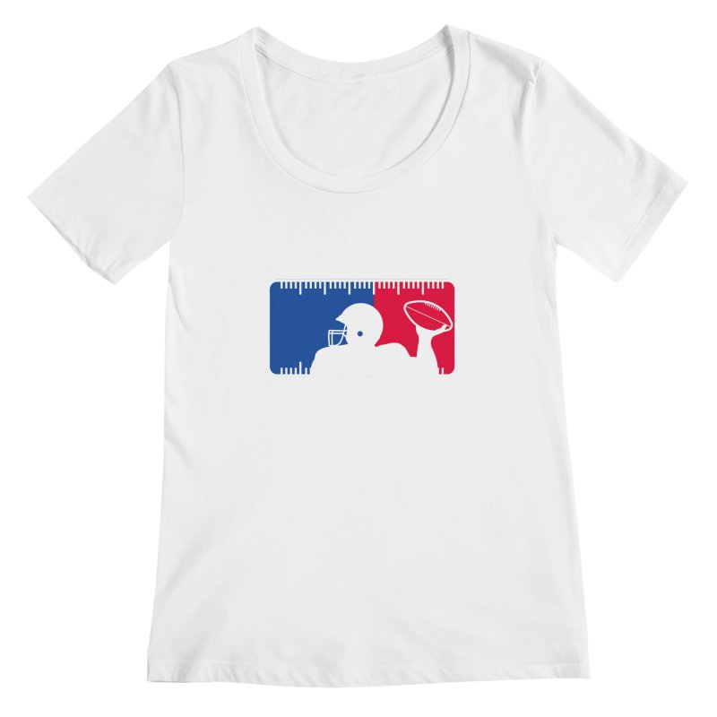 Major League Football Women's Scoopneck by Lance Lionetti's Artist Shop
