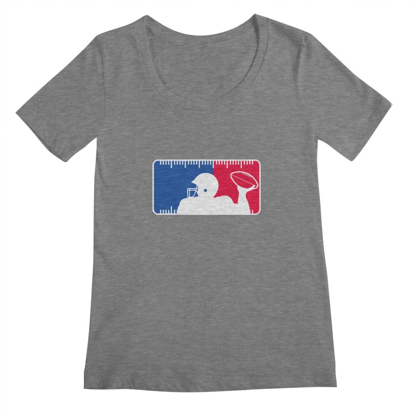 Major League Football Women's Scoopneck by Lance Lionetti's Artist Shop