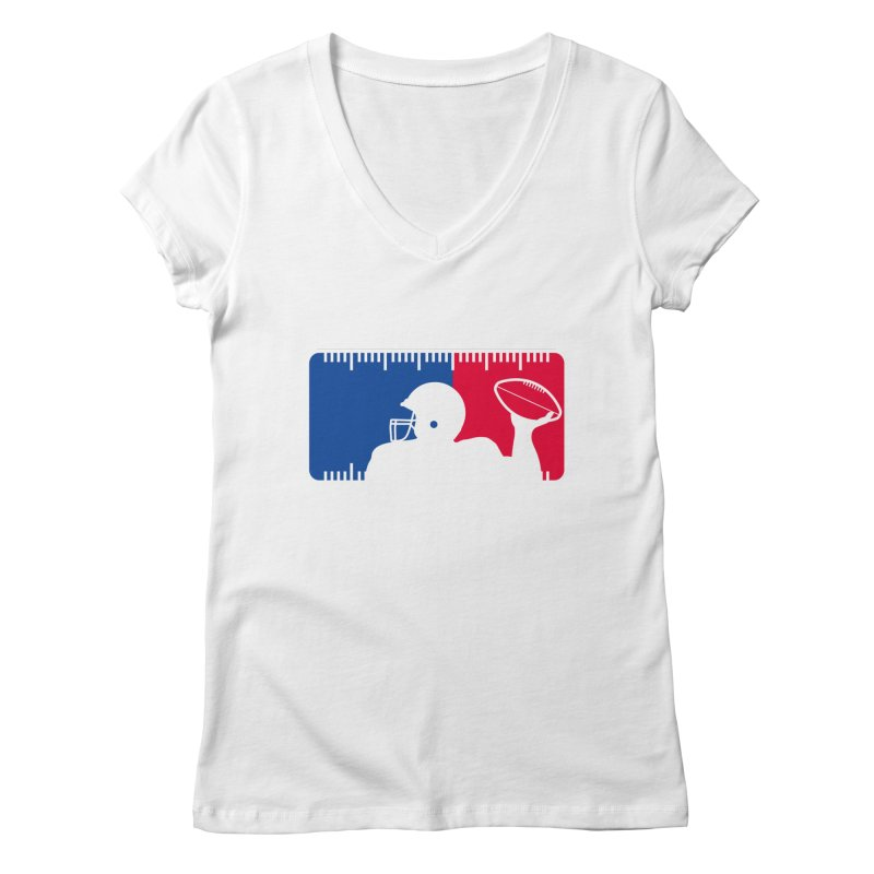 Major League Football Women's V-Neck by Lance Lionetti's Artist Shop