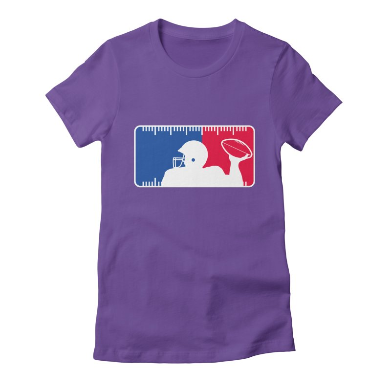 Major League Football Women's Fitted T-Shirt by Lance Lionetti's Artist Shop