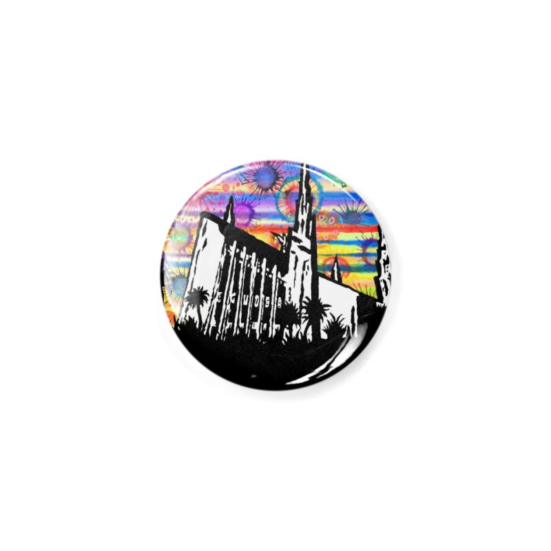 Las Vegas Temple Accessories Button by Lance Olson Art