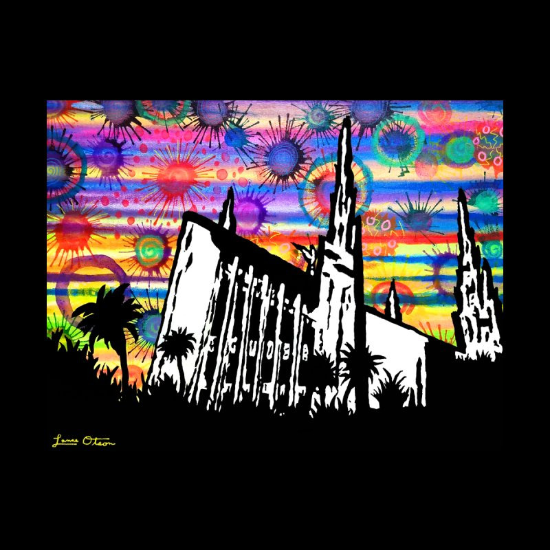 Las Vegas Temple Home Fine Art Print by Lance Olson Art