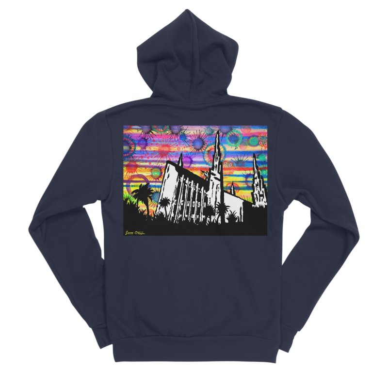 Las Vegas Temple Men's Zip-Up Hoody by Lance Olson Art