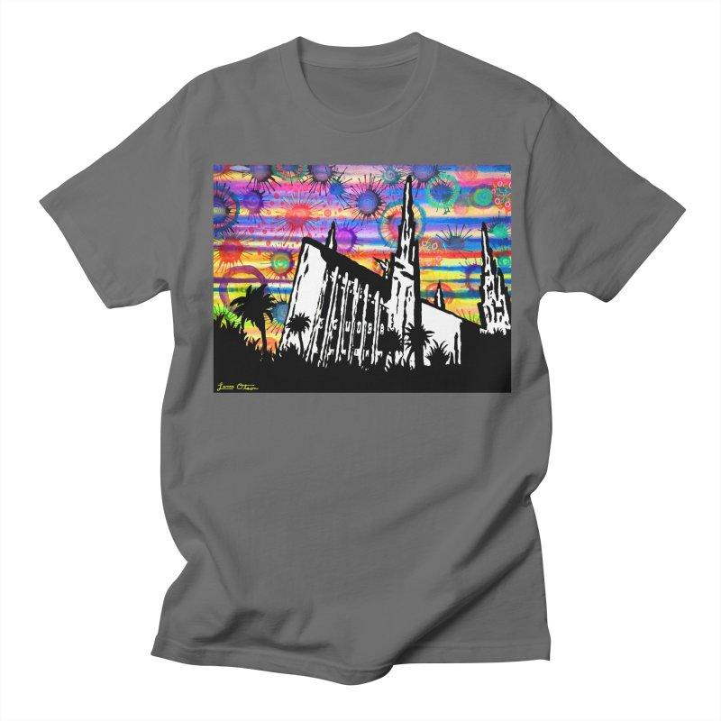 Las Vegas Temple Men's T-Shirt by Lance Olson Art