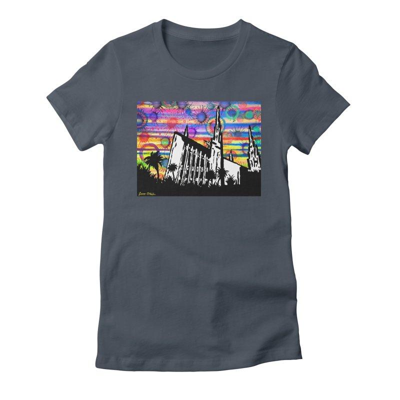 Las Vegas Temple Women's T-Shirt by Lance Olson Art