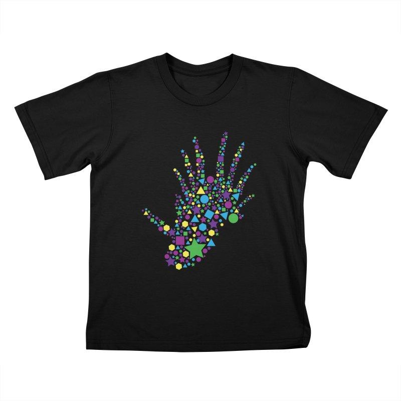 Dinoshapes Kids T-Shirt by Lance Olson Art