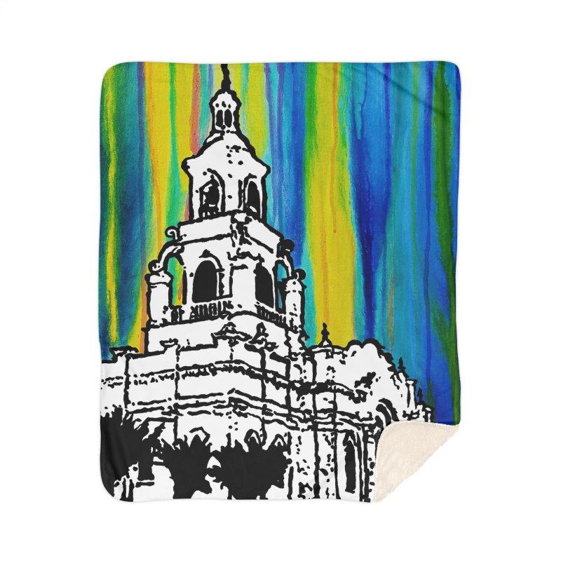 Tijuana Temple Home Blanket by Lance Olson Art