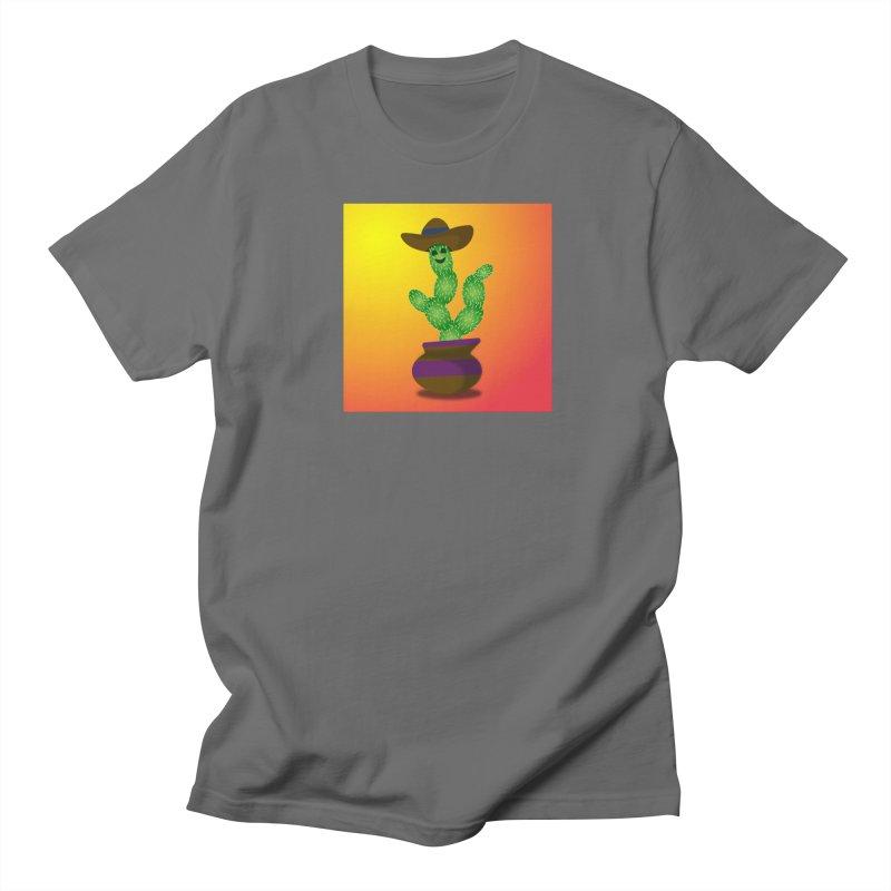 Happy Cactus Men's T-Shirt by Lance Olson Art