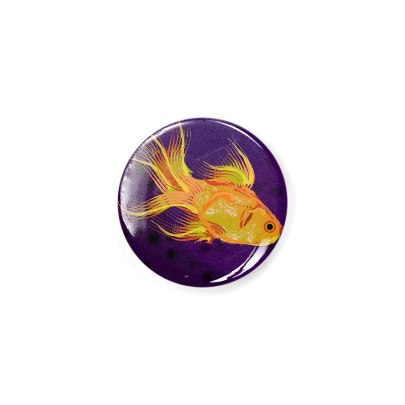 Swiming Fish Accessories Button by Lance Olson Art