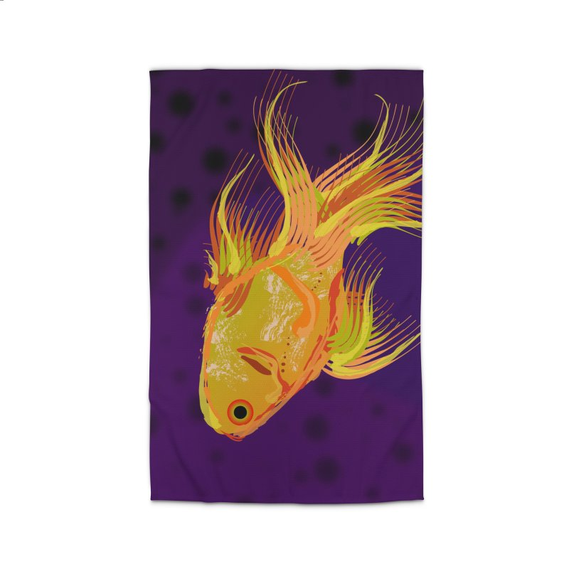Swiming Fish Home Rug by Lance Olson Art
