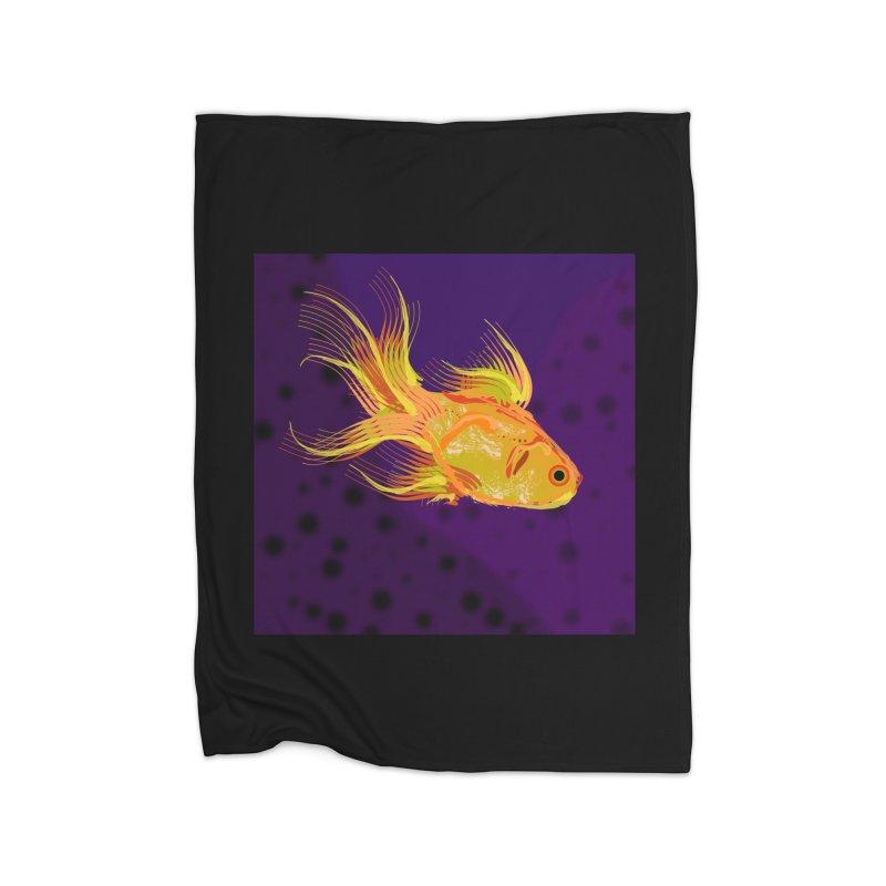 Swiming Fish Home Blanket by Lance Olson Art