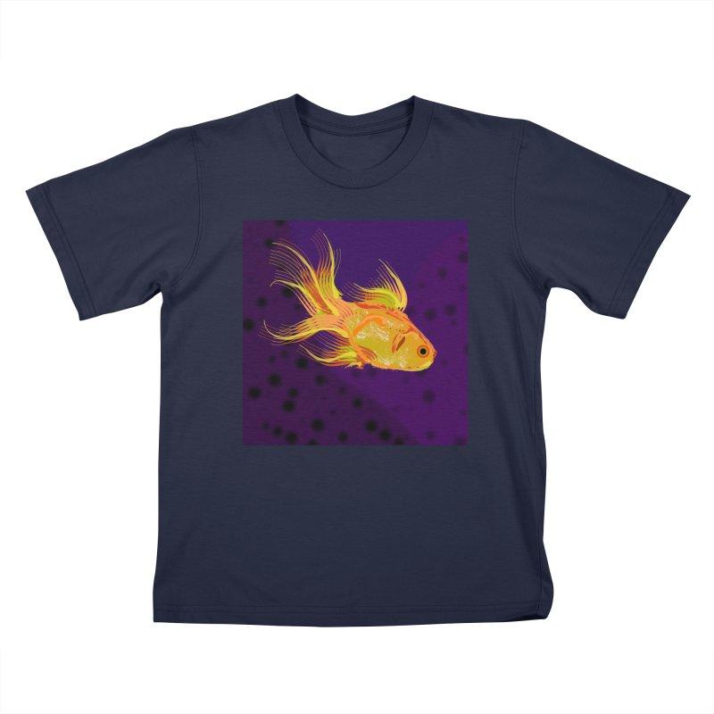 Swiming Fish Kids T-Shirt by Lance Olson Art