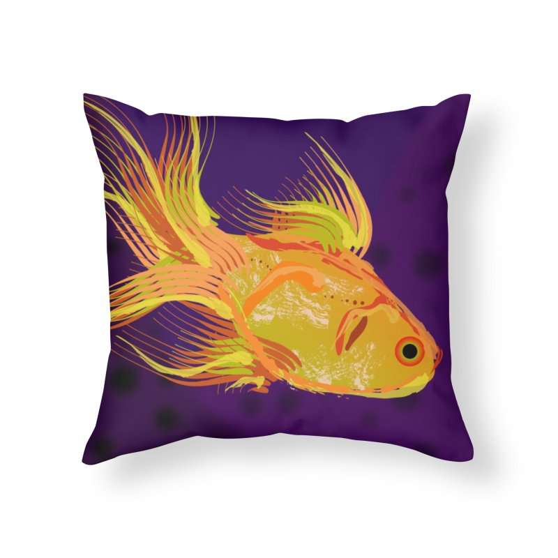 Swiming Fish Home Throw Pillow by Lance Olson Art