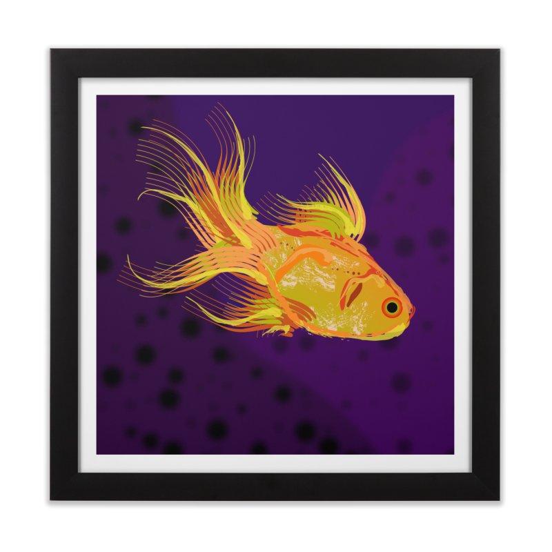 Swiming Fish Home Framed Fine Art Print by Lance Olson Art