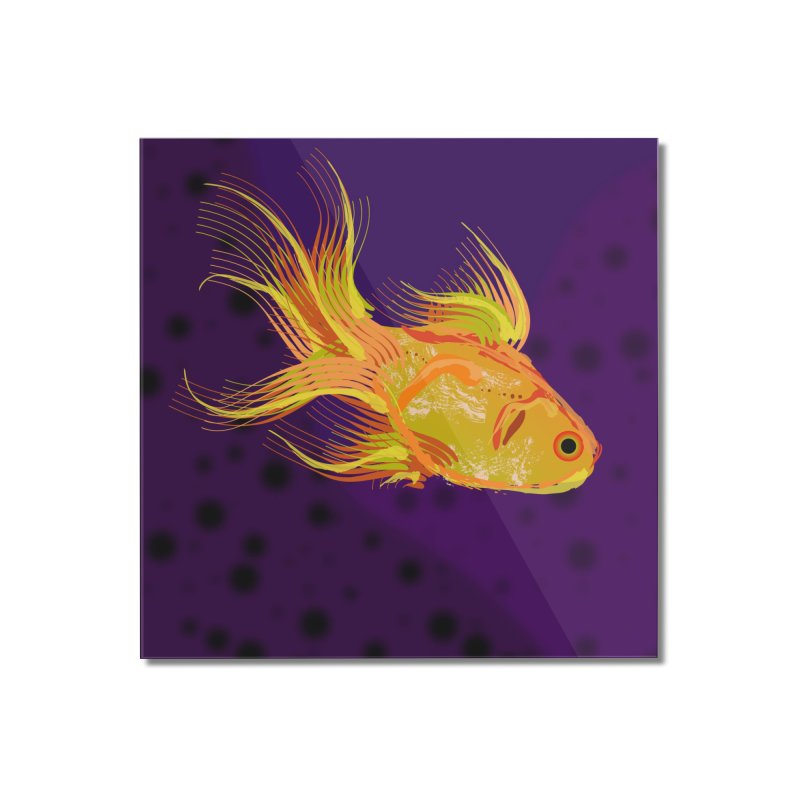 Swiming Fish Home Mounted Acrylic Print by Lance Olson Art