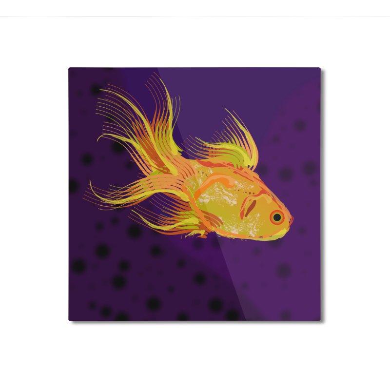 Swiming Fish Home Mounted Aluminum Print by Lance Olson Art