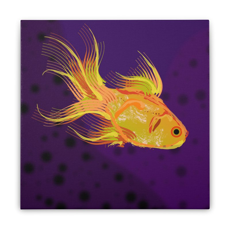 Swiming Fish Home Stretched Canvas by Lance Olson Art
