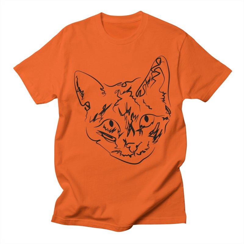 Scribble Kitty Men's T-Shirt by Lance Olson Art