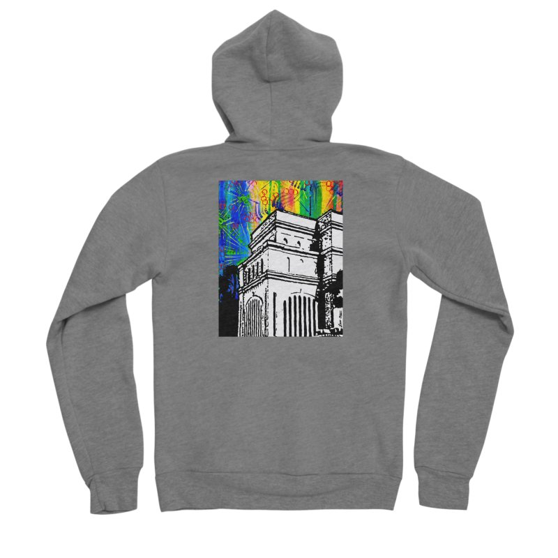 Hong Kong Temple Men's Zip-Up Hoody by Lance Olson Art