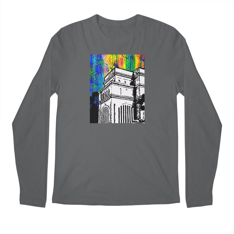 Hong Kong Temple Men's Longsleeve T-Shirt by Lance Olson Art