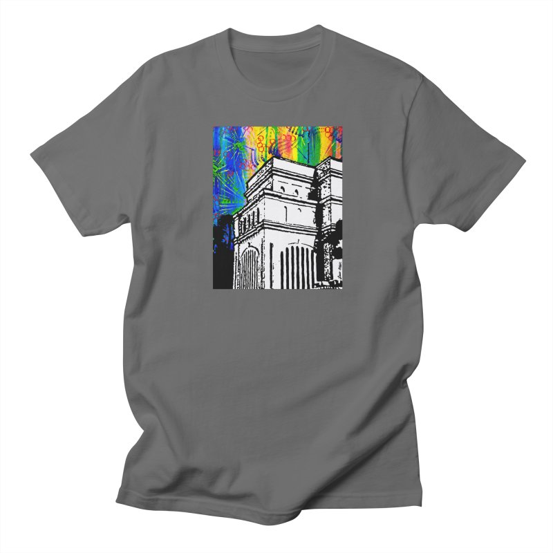 Hong Kong Temple Men's T-Shirt by Lance Olson Art