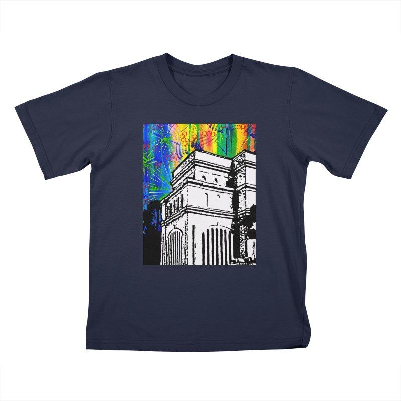 Hong Kong Temple Kids T-Shirt by Lance Olson Art