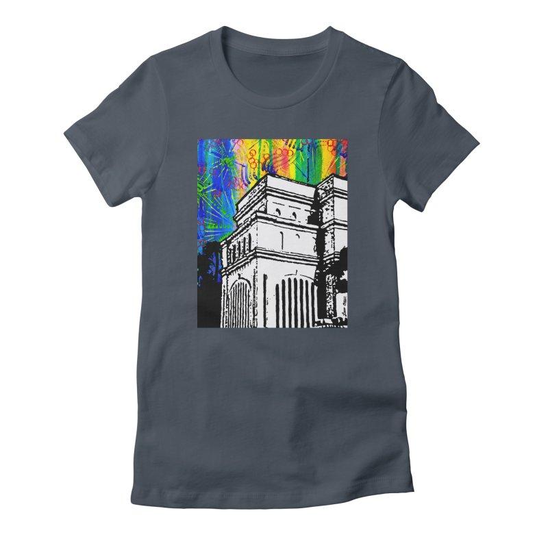 Hong Kong Temple Women's T-Shirt by Lance Olson Art