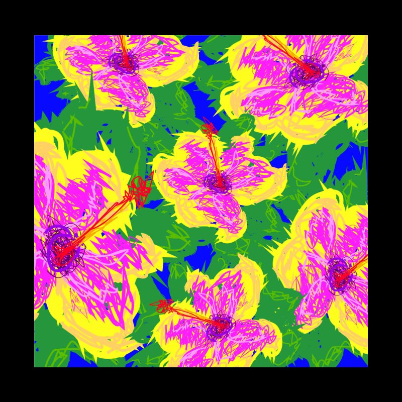 I Love Hibiscus Home Blanket by Lance Olson Art