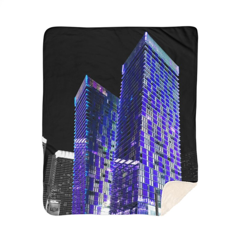 Modern Blue Towers Home Blanket by Lance Olson Art