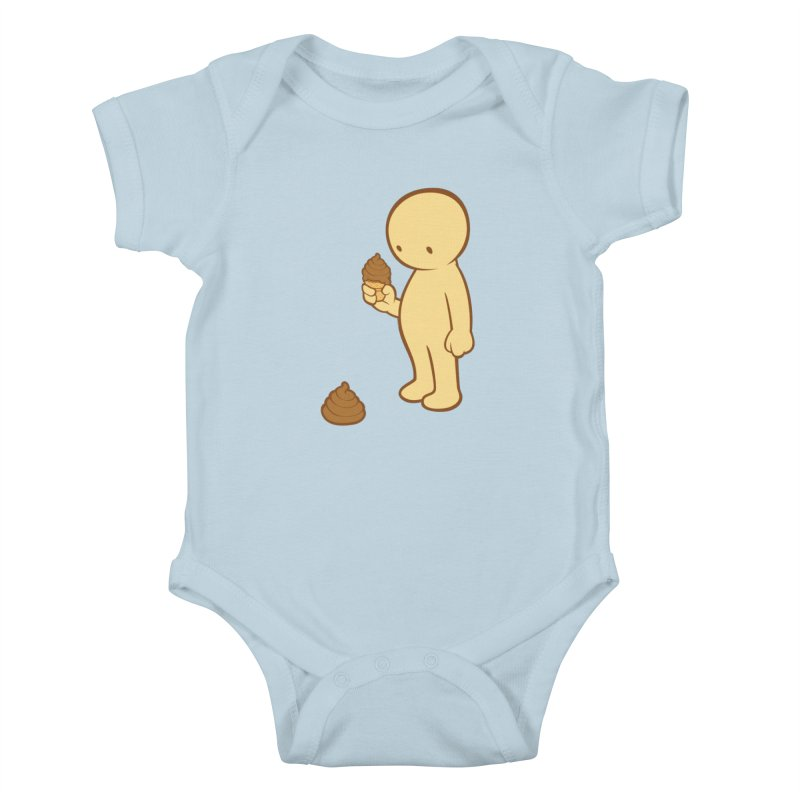 Chocolate Flavor Kids Baby Bodysuit by landhell's Artist Shop