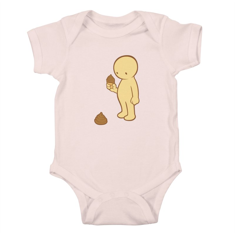 Chocolate Flavor Kids Baby Bodysuit by landhell's Artist Shop