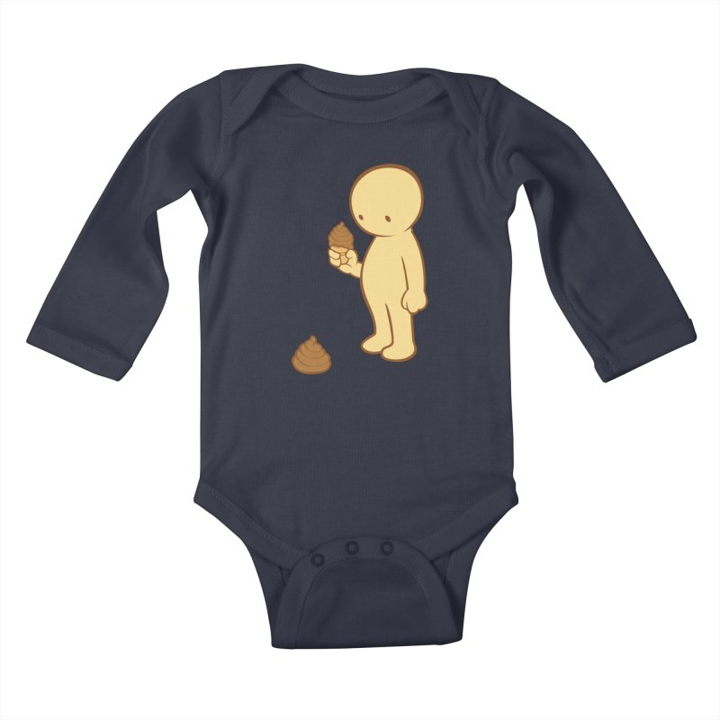 Chocolate Flavor Kids Baby Longsleeve Bodysuit by landhell's Artist Shop