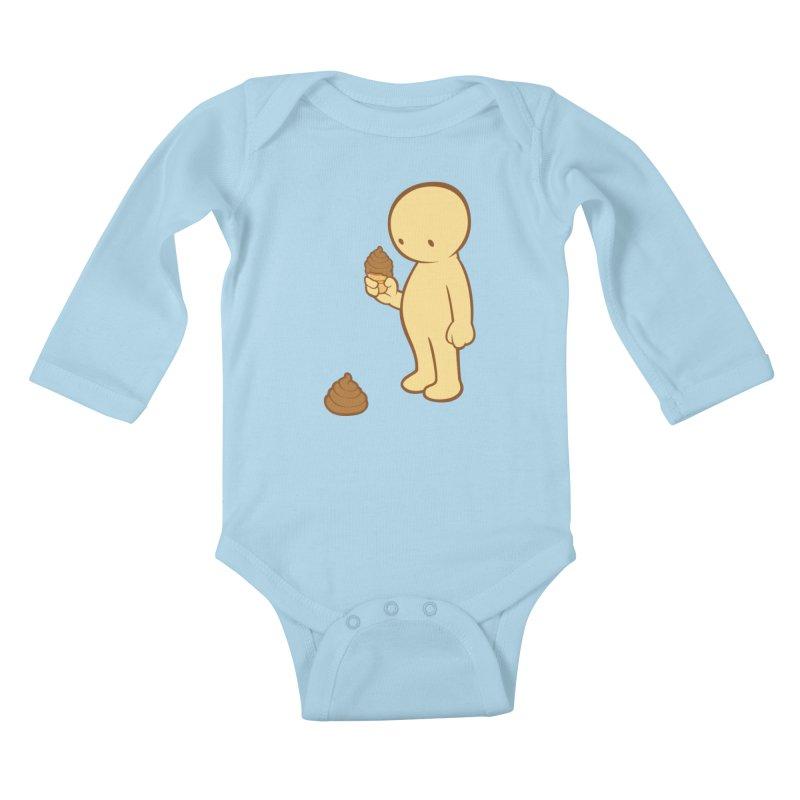 Chocolate Flavor Kids Baby Longsleeve Bodysuit by landhell's Artist Shop