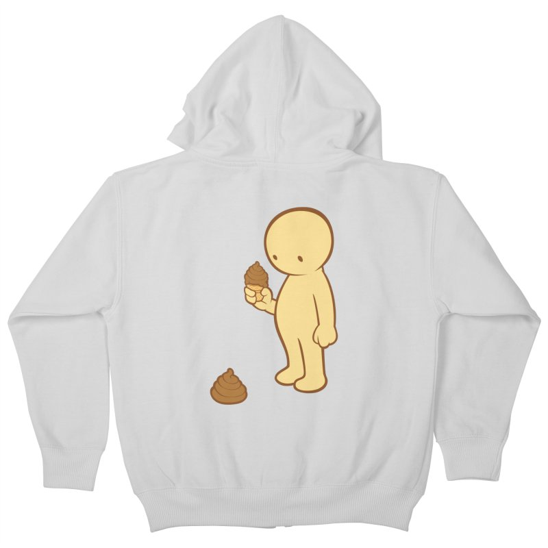 Chocolate Flavor Kids Zip-Up Hoody by landhell's Artist Shop