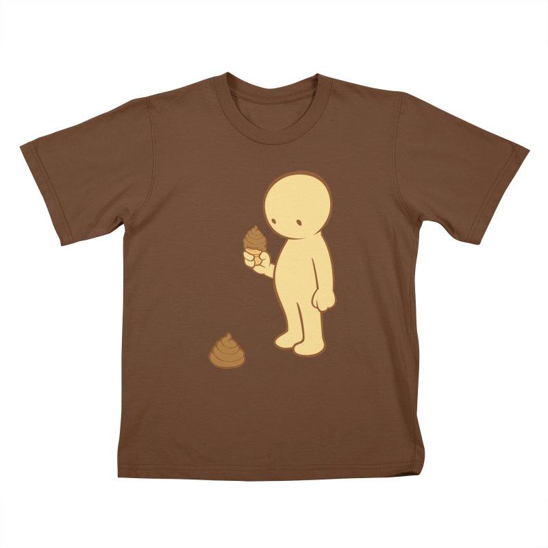 Chocolate Flavor Kids T-Shirt by landhell's Artist Shop
