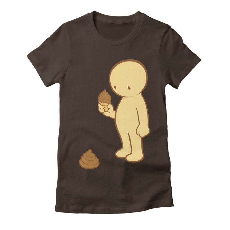 Chocolate Flavor Women's Fitted T-Shirt by landhell's Artist Shop