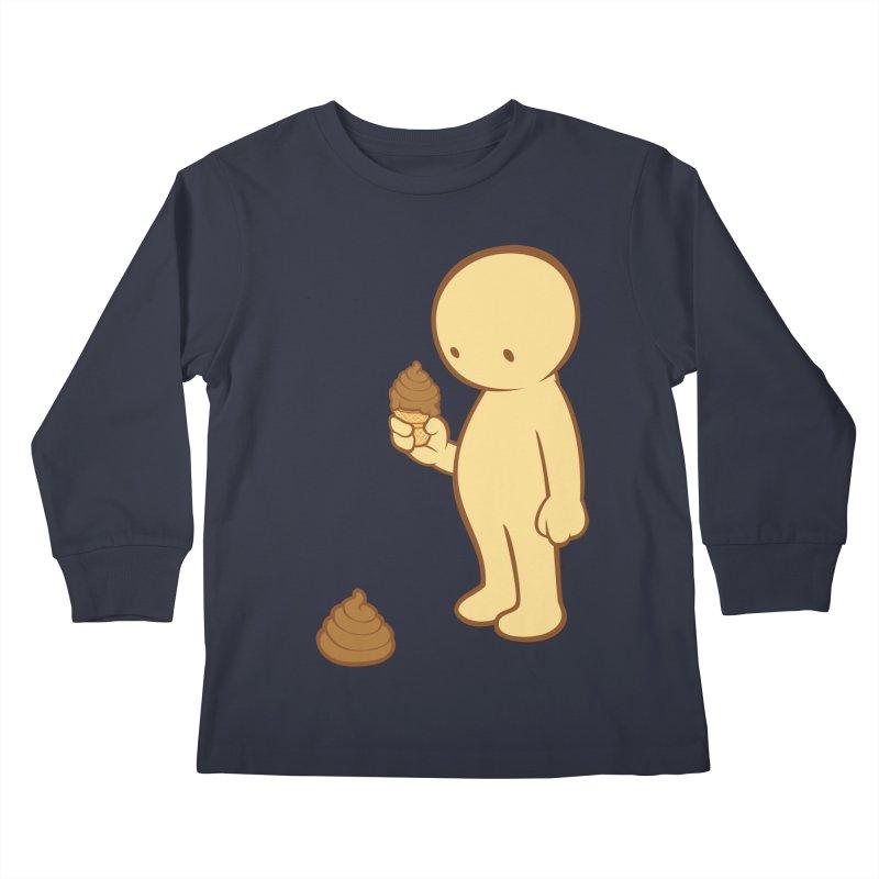 Chocolate Flavor Kids Longsleeve T-Shirt by landhell's Artist Shop