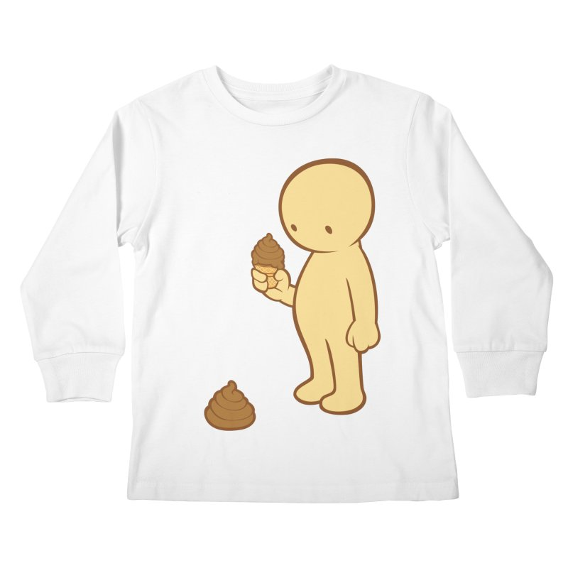 Chocolate Flavor Kids Longsleeve T-Shirt by landhell's Artist Shop