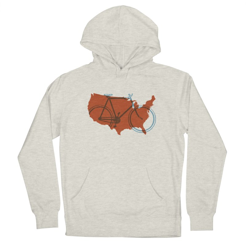 Bike America Men's Pullover Hoody by landonsheely's Artist Shop