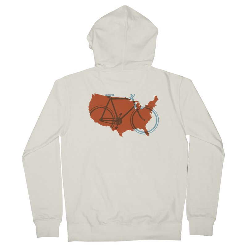 Bike America Men's Zip-Up Hoody by landonsheely's Artist Shop