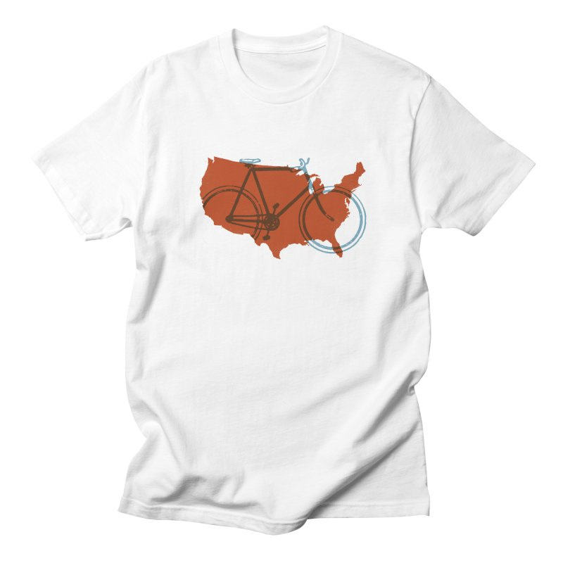 Bike America Men's T-shirt by landonsheely's Artist Shop